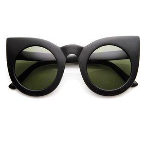 Accessories - Oversized Retro Vintage Cat Eye Sunglasses